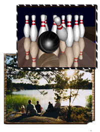 bowling and hiking excursions